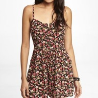 FLORAL WOVEN ROMPER