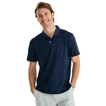 Deep Blue Sea Print Performance Polo by Southern Tide