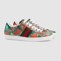 Sneaker Ace donna GG e Gucci Strawberry