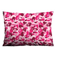 BAPE CM PINK Pillow Case Cover Recta
