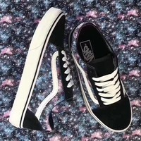 Vans White men and women fashion casual shoes-2