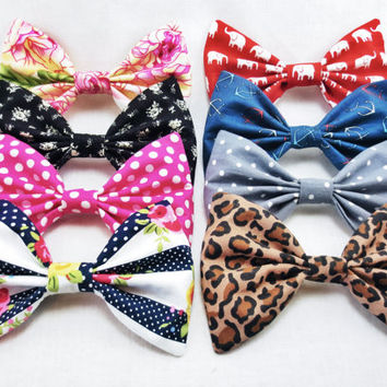 Fun set of 4 hair bows-  Choose any four bows from the set