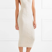 Victor Glemaud - Open-back cotton and cashmere-blend turtleneck dress