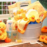 Bath Time Baby New Baby Basket-Blue-Pink-Yellow