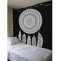 210X145cm Polyester Dream Catcher Tapestry Bohemian Bedspread Dorm Cover Yoga Mat Home Bedroom Wall Hanging Decoration
