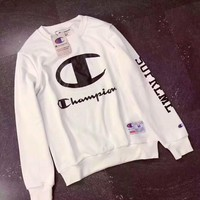 Champion Fashion Casual Long Sleeve Sport Top Sweater Pullover Sweatshirt White I-PSXY Tagre™