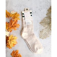 Free People - Haven Cozy Crew Sock in Nude