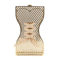charlotte olympia - tight laced metallic clutch