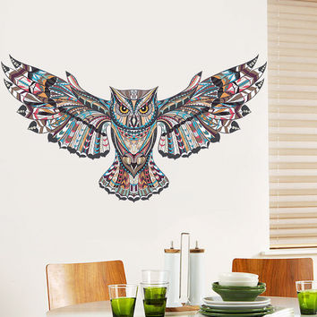 Flying Owl Children Baby Bedroom Wall Sticker For Kids Rooms Eagle Hawk Wall Painted Tatoo Home Decor Art Decals