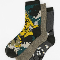 Urban Outfitters - Silence + Noise Tiger Crew Sock - Pack Of 3