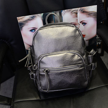 Casual Back To School Hot Deal Stylish College On Sale Comfort Summer Star Rinsed Denim Backpack [6582232647]