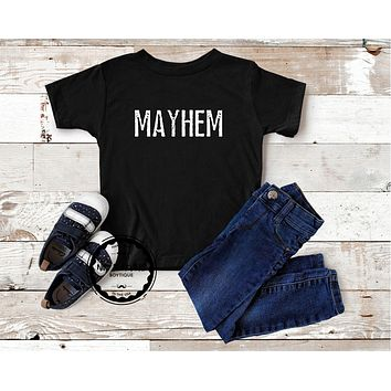 Matching Kids Shirt Mayhem Family Outfits Mom Graphic Tee Mother of Mayhem