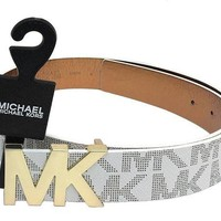 ONETOW MICHAEL Michael Kors Belt with MK Logo Plaque