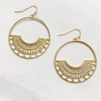 Elsa Laser Cut Earrings in Gold