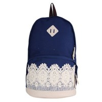 Your Gallery Unisex Cute Lace Leisure Vintage Canvas Backpack Outdoor Campus Rucksack Satchel Shoulder Bag for School:Amazon:Shoes