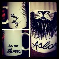 "Chronicles of Narnia ""They Say Aslan is on the Move"" Hand-designed Mug"