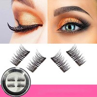 4pcs Double Magnetic Eyelashes Magnet Magnetic Lashes Magnetic False Eyelashes Magnetic Eye Lashes Makeup