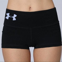 """Under Armor"" Women's Comfort Slim Elastic Leisure Sports Shorts"