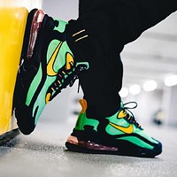 NIKE AIR MAX 270 REACT thick air cushion shoes Green Black Yellow Hook