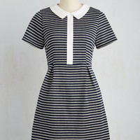 Mod Mid-length Short Sleeves A-line All Assistants Are Go Dress
