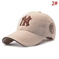 NY Fashion New Embroidery Letter Sunscreen Women Men Cap Hat 2#