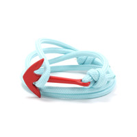 Red Anchor on Aqua Rope