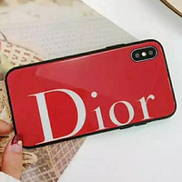 DIOR iPhone Shell Luxury Tide Men Tide Simple Letter iPhone Phone Cover Case For iphone 7 7plus 8 8plus X XR XS MAX 11 Pro Max 12 Mini 12 Pro Max