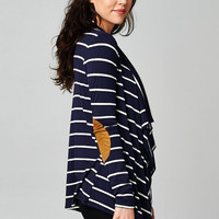 Easily Per-Sueded Elbow Patch Cardigan - Navy