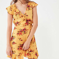 Pins And Needles Ruffle Wrap Dress | Urban Outfitters