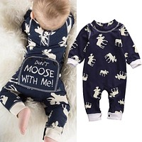 2017 Christmas Newborn baby boy winter clothes Cotton Long Sleeve Baby Rompers Soft Infant Baby girl Clothing Set Jumpsuits