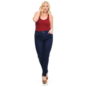 Sweet Look Women's Jeans - Missy Size - High Waist - Push Up - Skinny - Style A084-2
