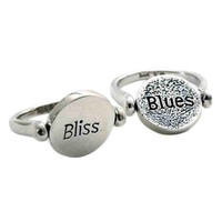 Bliss And Blues Sterling Silver Flip Ring