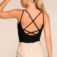 Wrap It Up Bodysuit - Black