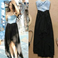 Sexy Chiffon With Cowboy Camisette Dress