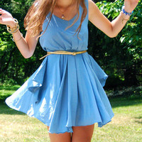 Romwe blue dress