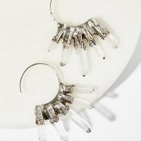 Free People Icicle Raw Quartz Hoops