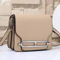 Hermes Fashion Leather Crossbody Satchel Shoulder Bag
