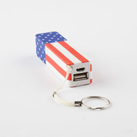 Audiology Americana Portable Phone Charger Red/White/Blue One Size For Men 26147694801