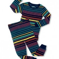 "Leveret ""Multi Colored"" Striped 2 Piece Pajama Set 100% Cotton (Size 6M-5T)"