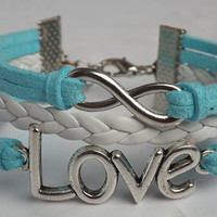 Ancient the infinite silver - love the woven leather bracelet