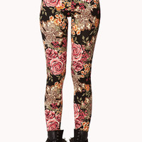 Baroque Floral Leggings