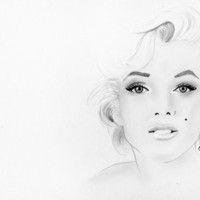 Marilyn Monroe Stretched Canvas by Paint The Moment | Society6