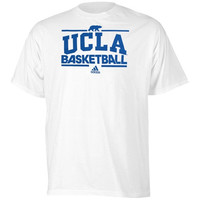 adidas UCLA Bruins Basketball Practice Graphic T-Shirt - White