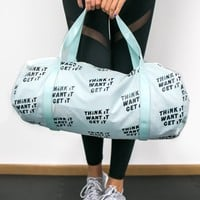 Work it Out Gym Bag, Think it Want it Get it