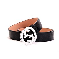 GUCC Tide brand classic double G buckle men and women retro wild belt