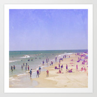 Life Is Better At the Beach Art Print by Olivia Joy StClaire
