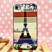Bestgoods — Cool Colourful Eiffel Tower Hard Cover Case For Iphone 4/4s
