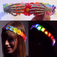 Day of the dead LED Flower Crown