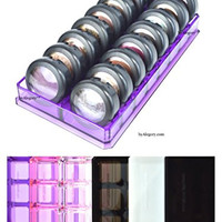 Acrylic Eyeshadow Organizer & Beauty Care Holder Provides 16 Space Storage | byAlegory (Purple Clear)