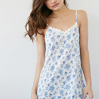 Crochet-Trimmed Floral Nightdress